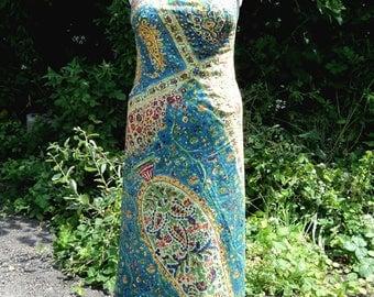 Indian Printed Cotton Maxi Dress
