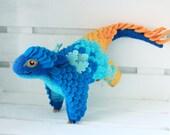 Little Rainbow Dragon, Needle felted dragon toy, Fantasy dragon figurine