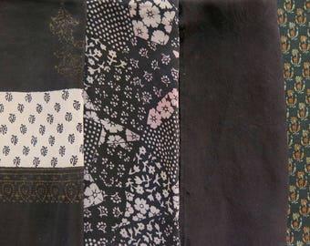 Fat Quarters, Silk Fabric, Sari Silk, FQ 6