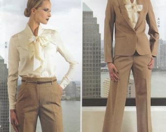 Anne Klein Jacket, Pants & Blouse Pattern Vogue 1325 Sizes 14 16 18 20 22 Uncut