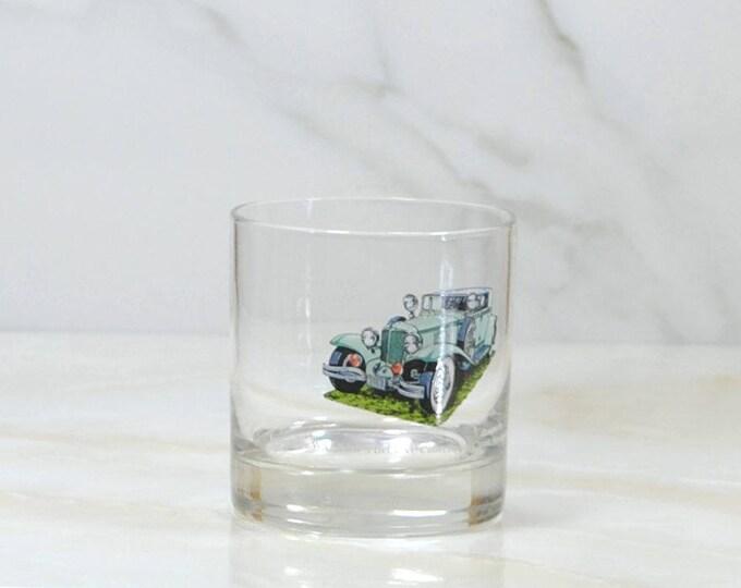 Vintage Walker's, Deluxe, Bourbon Whiskey, Rocks Style Glass, 1973, Straight 8, Collection, 1931, Cord L 29, Sedan, Classc Car, Barware