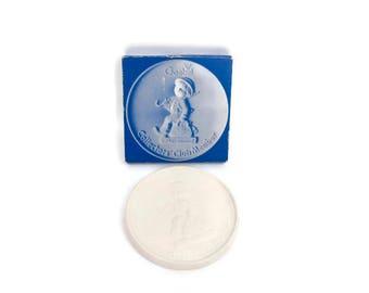 Vintage Goebel Collectors Club Member Bisque Medallion M J Hummel 1976 Porcelain Plaque The Wanderer West Germany