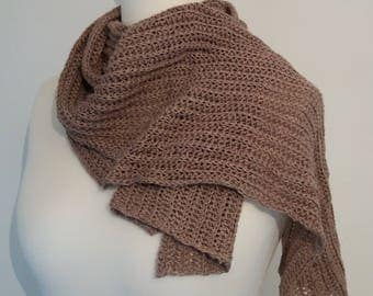 Fine Ribbed Linen Scarf - Ready to Ship