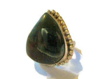 Vintage Sterling Bloodstone Rings Size 9.5