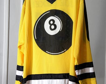RAD 8 Ball Black and Yellow Mesh 90s Hockey Jersey