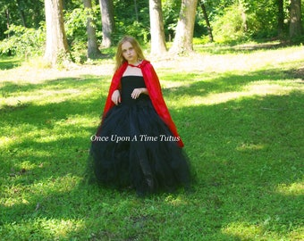 vampiress tutu dress red scary spooky pageant gown zombie witch halloween costume little