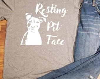 Pit Bull Shirt, Pit Bull Clothing, Pit Bull Mom, Pit Bull Dad, Pitbull Shirt, Pitbull Tee, Pitbull Gift, Pitbull, Pit Bull, Resting Pit Face