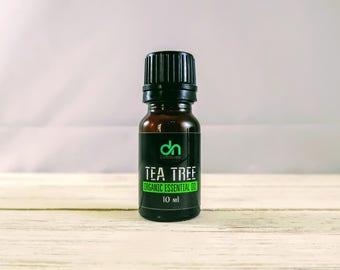 Organic Tea Tree Oil  - Tea Tree Oil  - Organic Tea Tree Essential Oil - 10 ml - Acne Essential Oil - Tea Tree - Organic Essential Oil