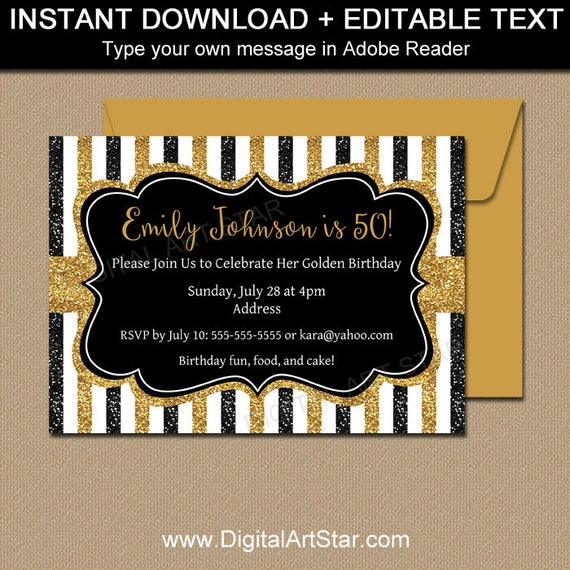 Milestone birthday invitation template 50th birthday invitations il570xn filmwisefo