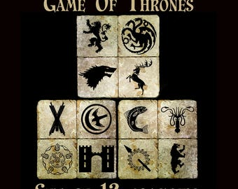 Game of Thrones coaster set of 12. **Ask for free gift wrapping and have them sent directly to the recipient!**
