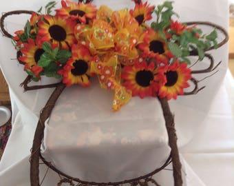 Sunflower Grapevine Angel