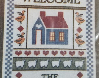 Personalized Counted Cross Stitch Kit Welcome--UNOPENED