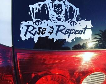 Horror Decor, Zombie, Walking Dead, Horror Decal, Halloween Decor, Scary Art, Zombie Sticker, Car Decal, Window Sticker,