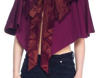 Victorian Purple Wool Cape With Taffeta Size: FR
