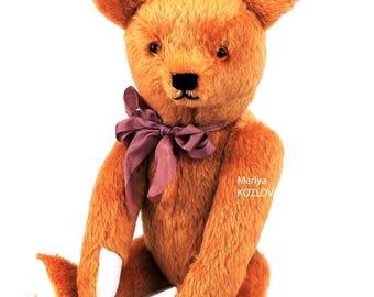 PDF Sewing Antique Style Prick-ears Teddy Bear E-Pattern 18 inch (45cm) Artist design/ traditional classic bear/ big teddy bear toy pattern