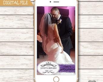 Wedding Snapchat GeoFilter, Momogram Geofilter, Logo Filter, , Personalized Snapchat Filter, Glitter Filter, Reception