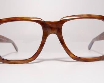 vintage anglo american mod 306 eyeglasses sunglasses extra large frames oversized rectangular tortoise gold rare 80s - Extra Large Frames