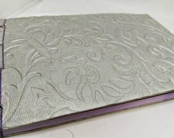 Silver Japanese Traditional Stab Binding Sketchbook Journal Notebook Album Book Medium