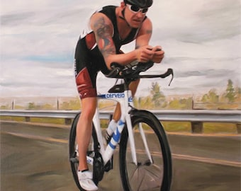 Sports Gift - Birthday Gift - Custom Painting - Custom Art - Personalized Oil Painting from Photo
