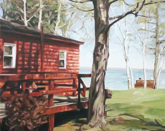 Cottage Painting - Custom Painting - Personalized Oil Painting - House Painting - Wall Art