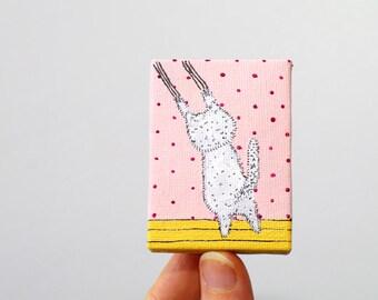 Miniature paintings on canvas Mini canvas painting Mini paintings Tiny painting on canvas Tiny art - miniature art - small canvas art