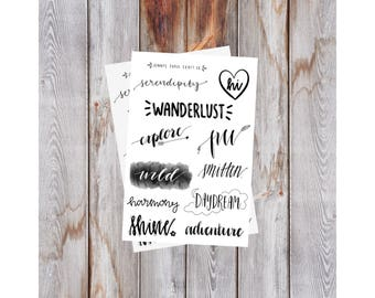 2-pack Cute Words Collection for Journal and Planner