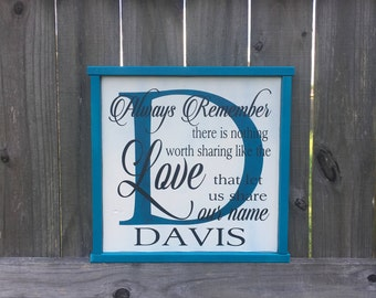 Always Remember There Is Nothing Worth Sharing, 5 Year Anniversary Gift, Personalized Anniversary Gift, Wedding Gift, 5th Anniversary