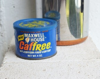 Vintage Maxwell House Caffree Coffee Tin/General Foods U.S.A.