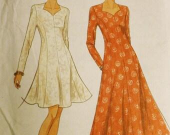 Close-Fitting Dress Pattern, Simplicity 8531 Sewing Pattern, Sweetheart Neckline, Size 8-18
