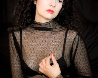 """the underneath sweater """"Penny"""" black stretch lace"""
