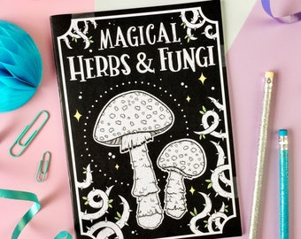 Magical Herbs and Fungi Notebook. Magic Notebook. Herbology. Witch's Notebook. Spellbook. Book of Spells. Witchcraft. Witch Vibes. Evil Eye