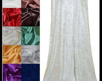 Ivory Crushed Velvet Cloak lined with a Shimmer Satin of your choice. Ideal for LARP LRP Medieval Cosplay Costume. NEW!