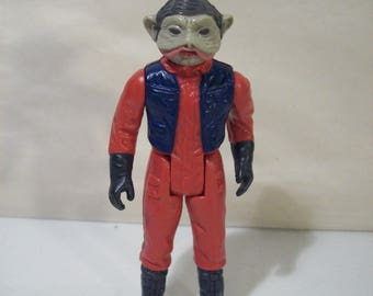 Vintage Star Wars Nien Nunb Action Figure, LFL 1983, Hong Kong