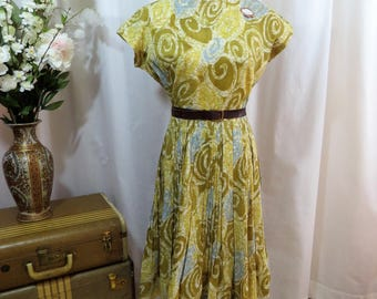 1950's/1960's Carol Craig, New York, Atomic print dress