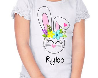 personalized easter girl, girl easter outfit, personalized easter shirt, baby girl easter, toddler easter, easter shirt, girl 1st easter