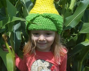 Crochet Corn Cob Hat