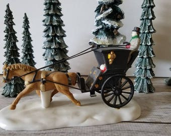 """Dept 56 Dickens' Village Series """"KING'S ROAD CAB""""  hand painted fine porcelain"""