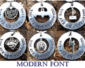 You Are My Superhero Keychain, Super Mom Keychain, Superhero Dad Gift, Christmas Gift, Batman Superman Captain America Flash Thor Super Hero