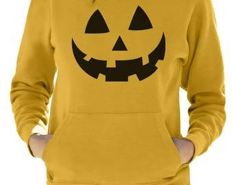 Smiling Pumpkin Face - Easy Halloween Costume Fun Women Hoodie