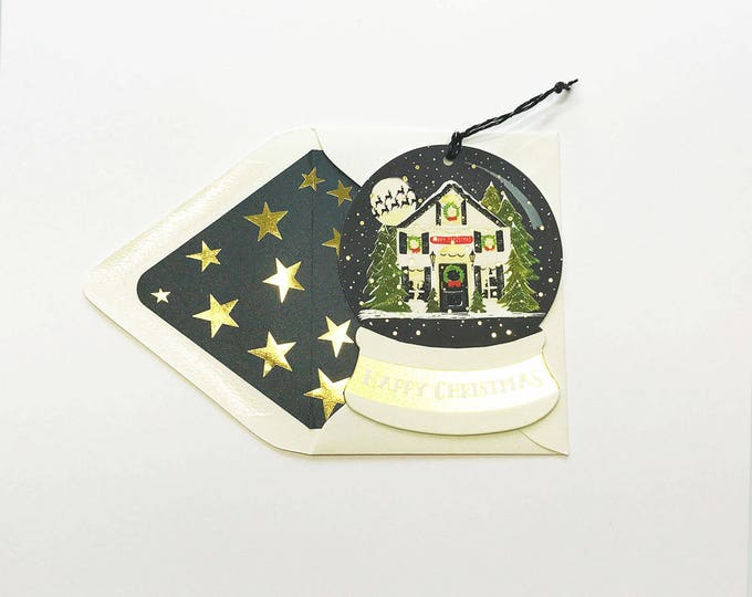 Snow globe greeting and ornament