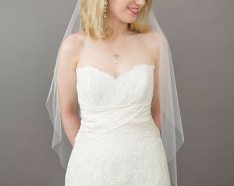 Couture bridal, wedding veil in soft tulle, Alice