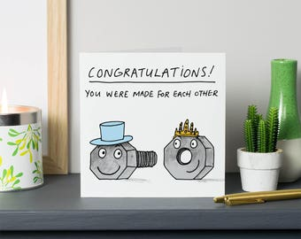 You were made for each other wedding/ engagement card