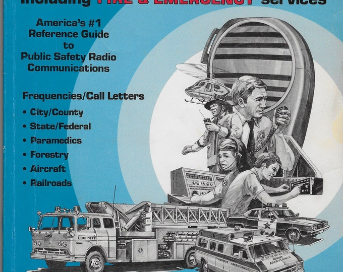 Vintage Radio Shack Police Call Radio Guide, 1990 Edition, Includes Fire & Emergency Services, Public Safety Radio Communications