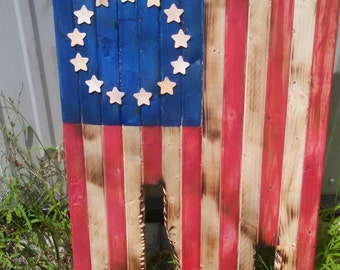 Distressed  wooden flag