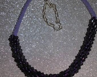 Kumihimo Necklace - Purple