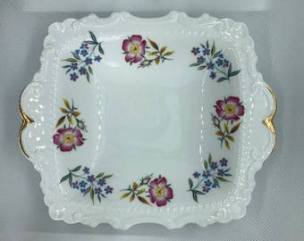 Pretty Floral Richmond China Dish with Gilt Edging