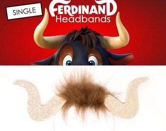 Bull Horns Ferdinand Party Horns SINGLE Set of Ferdinand Horns Bull Horns Ferdinand the Bull Party Favors