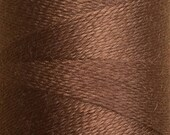 Coffee, Silk Machine Threads, 100% Mulberry Silk, Plain Dyed, Luxury Silk Threads, Spun Silk, Solid Colours, 300m, 325yds