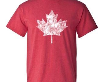 Canadian Flag Basic Cotton T Shirt