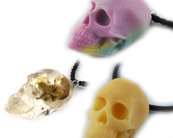necklace, resin, skull, gothic, goth, various